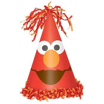Amscan Sesame Street Elmo Turns One Cone Hat Birthday