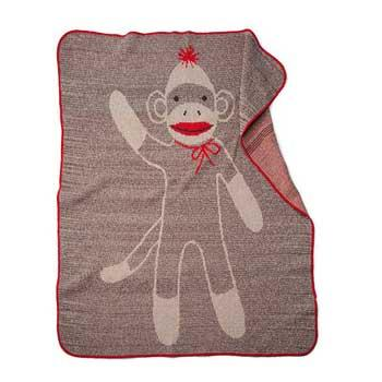 Baby Holiday Gifts Sock Monkey Blanket