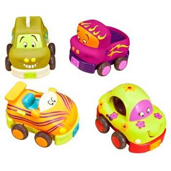 Baby Holiday Gifts B. Toys Wheeee-ls! Soft Cars Playset