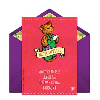 storybook party invite