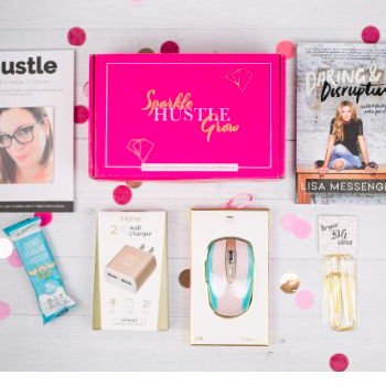 Subscription Box for Moms Sparkle Hustle Glow