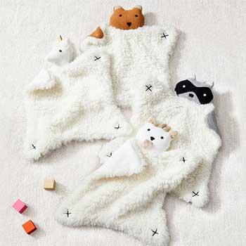 Holiday Baby Gifts West Elm x pbk Plush Animal Thumbies