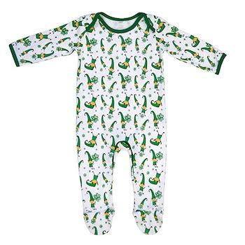 St. Patrick's Day Outfits for Baby Traditional Craft Leprechaun Shamrock Baby Pajamas