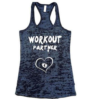Pregnancy Workout Must-Haves U Name IT Workout Partner Burnout Tank Top