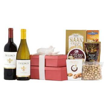 New Parents Gifts Sonoma Wine Duet Gift Tower