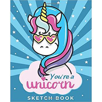 Best Valentine's Day Gift for Kids: You're a Unicorn Sketch Book and Drawing Pad