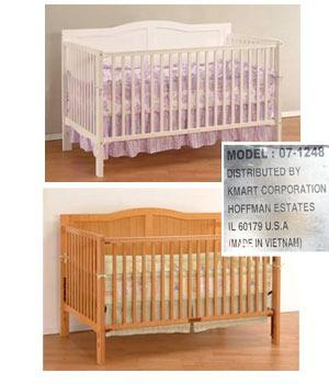 About 34,000 Heritage Collection 3 In 1 Drop Side Cribs, Sold At Kmart,  Have Been Recalled. The Cribu0027s Drop Side Rail Can Malfunction, Detach Or  Otherwise ...