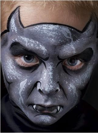 halloween costume of the day gargoyle face paint