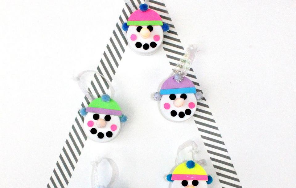 Christmas Crafts: Easy DIY Electric Tea Light Snowman Ornaments