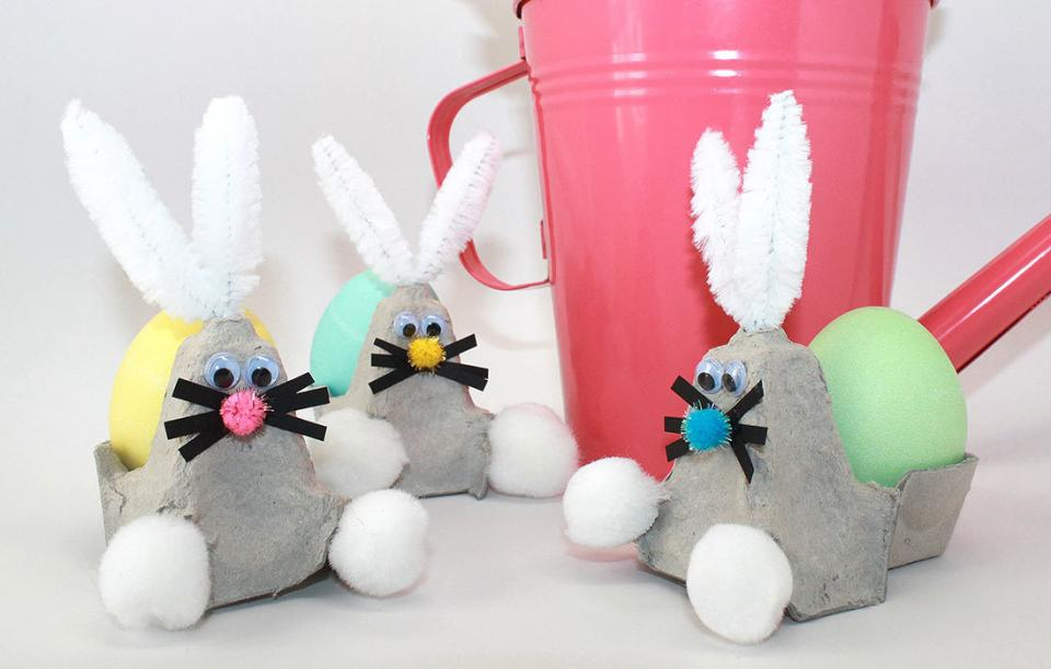 recycle your egg carton into a bunny easter craft parenting. Black Bedroom Furniture Sets. Home Design Ideas