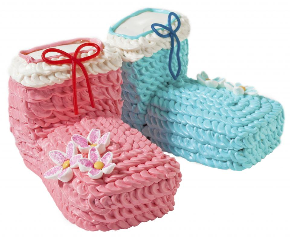 Baby Booties Cake Parenting