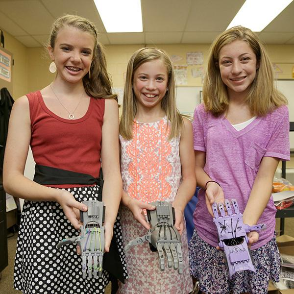 sixth grade girls create prosthetic hands for kids in need parenting