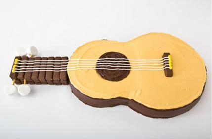 Guitar Birthday Cake Design