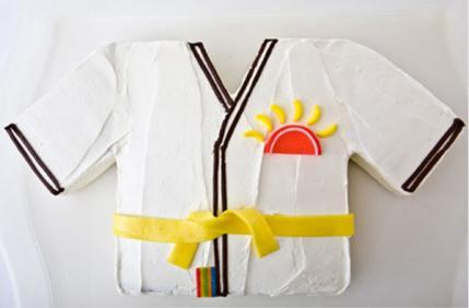 Martial Arts Jacket Birthday Cake Design