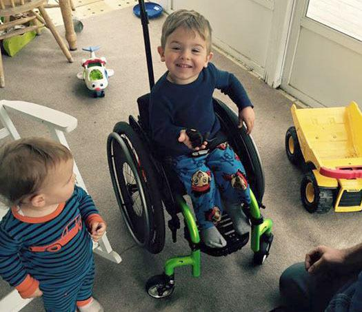 Paralyzed 3 Year Old Boy S Simple Wish Comes True Parenting