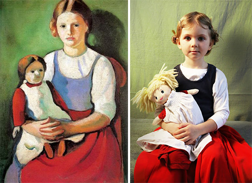 Mom Recreates Famous Paintings Using Her Kids as Models ...