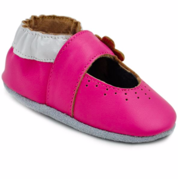 8c0302481c201 Momo Baby Marigold Leather Soft Sole Shoes in Pink ( 30   bedbathandbeyond.com)